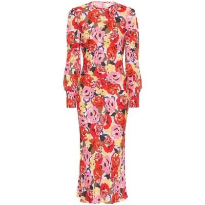 レベッカ ヴァランス Rebecca Vallance レディース ワンピース ミドル丈 ワンピース・ドレス blume crepe midi dress Print