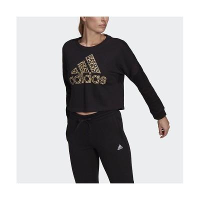 【アディダス】 レオパード グラフィック スウェット / Leopard Graphic Sweatshirt レディース ブラック M adidas