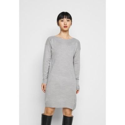 オンリー プティ ワンピース レディース トップス ONLAMALIA DRESS - Jumper dress - light grey