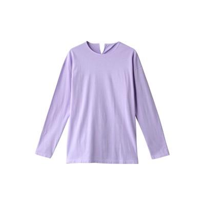 JAMAIS VU ジャメヴ ワンコットン 無地長袖Tシャツ レディース パープル 1(FREE)