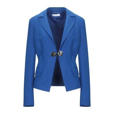 VERSACE COLLECTION テーラードジャケット ブライトブルー 46 ポリエステル 67% / レーヨン 29% / ポリウレタン 4%