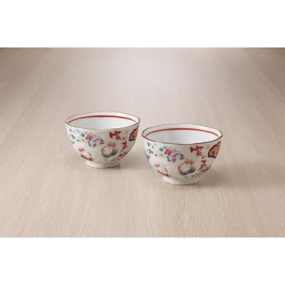 夕立窯 楽園うさぎ 飯碗ペア YK597 ギフト包装・のし紙無料 (A4)