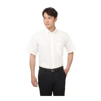 春夏用 ホワイト系 ボタンダウンシャツ【半袖】 CHRISTIAN ORANI