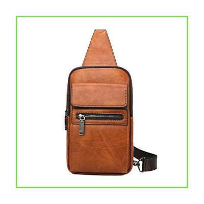 Men's Sling Bag Crossbody Backpack for Young Men(Orange)【並行輸入】【新品】