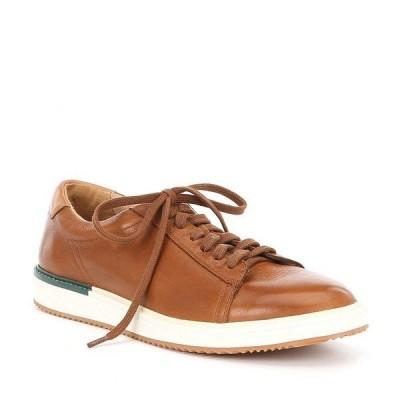 ハッシュパピー メンズ スニーカー シューズ Men's Heath Leather Sneaker Cognac
