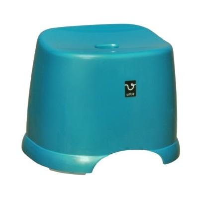 アンティ? 風呂椅子角 HK ブルー 288×366×280mm  浴用品