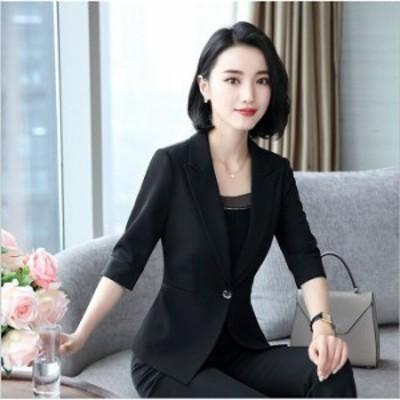 ジャケット単品 レディース 夏用 女性 OL通勤 ビジネス ジャケット 単品 オフィス フォーマル テーラードジャケット Lサイズ 大きサイズ