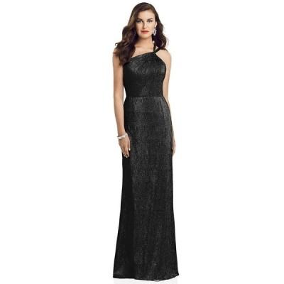 ドレッシーコレクション ワンピース トップス レディース One-Shoulder Metallic Gown Black