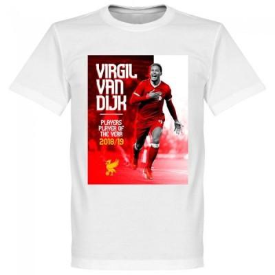 SOCCER フィルジル・ファン・ダイク リバプール Tシャツ Player of the Year T-Shirt RETAKE ホワイト