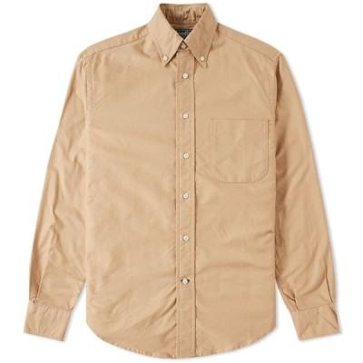 ギットマンヴィンテージ Gitman Vintage メンズ シャツ トップス overdyed oxford shirt Toast