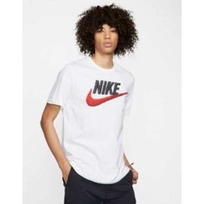 ナイキ メンズ シャツ トップス Nike brand mark t-shirt in white White