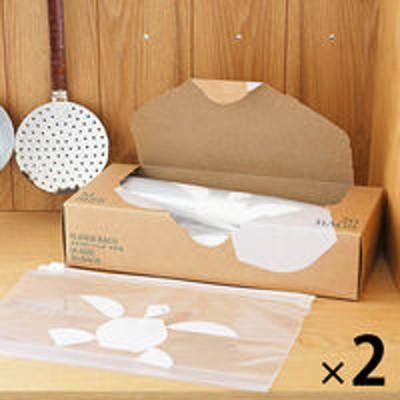 アスクルスライダーバッグ(マチ付き 冷蔵 冷凍対応) M B5ヨコサイズがピッタリ入る 1セット(20枚入×2箱) ロハコ(LOHACO)オリジナル