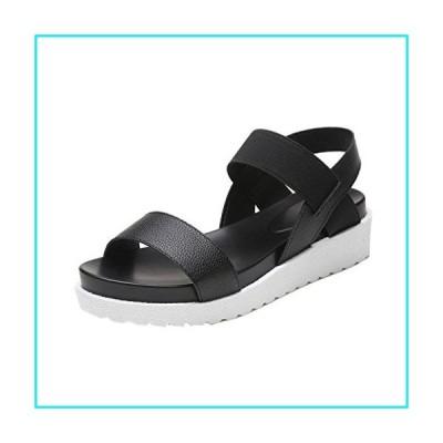 Flat Sandals, AgrinTol Fashion Women Aged Leather Flat Sandals (8, Black)【並行輸入品】
