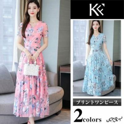 ワンピース レディース 40代 きれいめ 50代 30代 上品 ドレス フラワー シフォン 刺繍