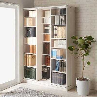 家具 収納 本棚 ラック シェルフ コミックラック 本格仕様 快適スライド書棚 オープン 3列 592726