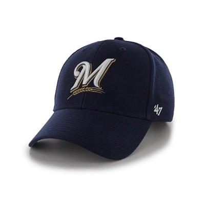 MLB Milwaukee Brewers Juke MVP Adjustable Hat, One Size, Navy-Home【並行輸入品】