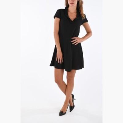 EMPORIO ARMANI/エンポリオ アルマーニ ドレス Black レディース 春夏2019 EMPORIO Flared Short Sleeve Dress dk