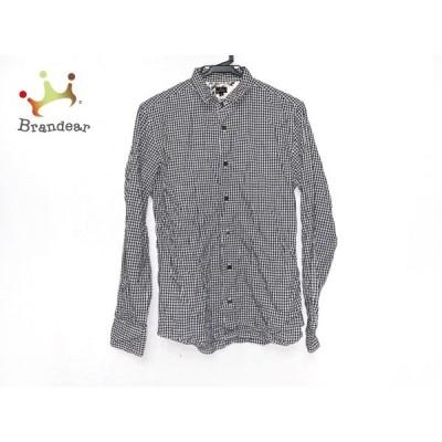 ポールスミス PaulSmith 長袖シャツ サイズS メンズ 黒×白 チェック柄   スペシャル特価 20200808