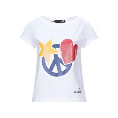ラブ モスキーノ LOVE MOSCHINO T シャツ ホワイト 40 コットン 94% / ポリウレタン 6% T シャツ