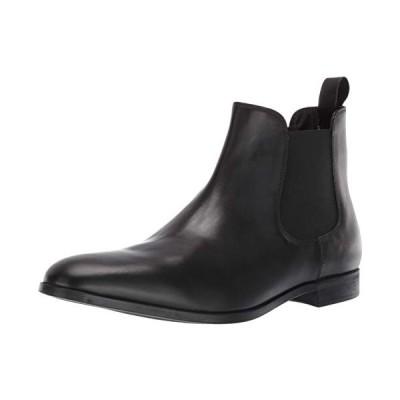 Emporio Armani Men's Chelsea Boot, Black, 9 Regular UK (10 US)【並行輸入品】