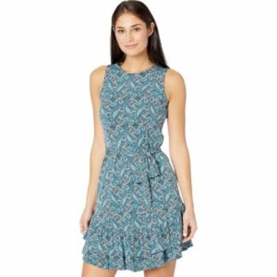 マイケル コース MICHAEL Michael Kors レディース ワンピース ワンピース・ドレス Petite Arabesque Ruffle Dress Spa Blue