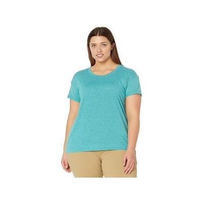 Prana Plus Size Cozy Up T-Shirt レディース シャツ トップス Azurite Heather