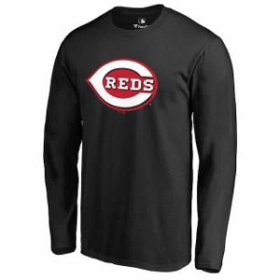 Fanatics Branded ファナティクス ブランド スポーツ用品  Cincinnati Reds Black Secondary Color Primary Logo Long