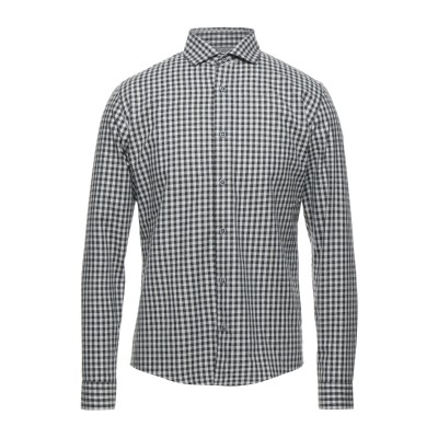 LIU •JO MAN シャツ スチールグレー S コットン 70% / ポリエステル 30% シャツ
