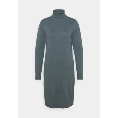 サントロペ ワンピース レディース トップス MILASZ ROLLNECK DRESS - Jumper dress - dark slate