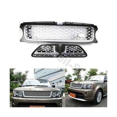 YiXi-Partswell 3 Pcs Front Grille Side Vent Mesh Grill Bar Trim Fits for Range Rover Sport 2010-2013【並行輸入品】