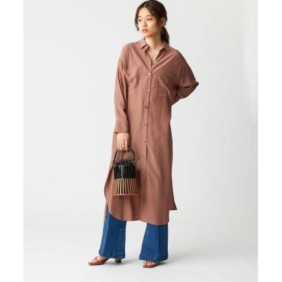 【エメル リファインズ】 SMF VIS ロングシャツ ワンピース レディース MDBROWN FREE EMMEL REFINES