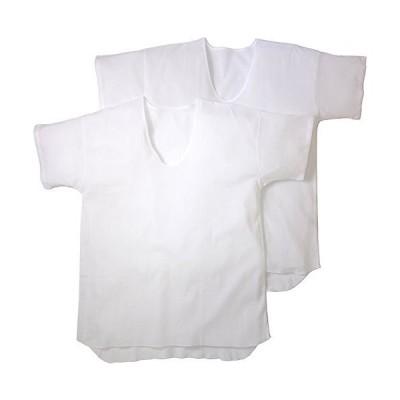 日本製 高島ちぢみ クレープ肌着 半袖U首シャツ 2枚組 LLサイズ
