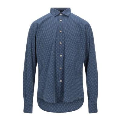 PORTOFIORI シャツ スチールグレー 42 コットン 100% シャツ