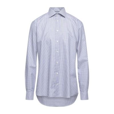 ETON シャツ ダークブルー 43 コットン 100% シャツ