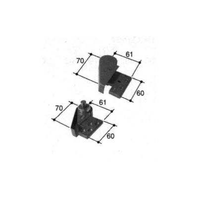 旧立山アルミ補修用部品 玄関ドア ピボットヒンジ:ピボットヒンジ(上下枠)[PKD9706]