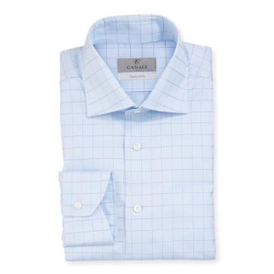 カナーリ メンズ シャツ トップス Men's Graph Check Dress Shirt