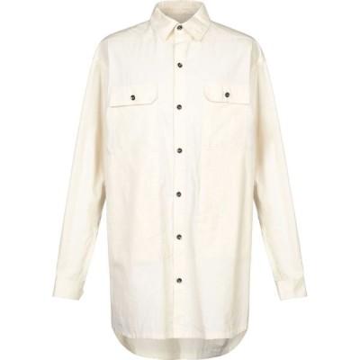 リック オウエンス RICK OWENS メンズ シャツ トップス solid color shirt Ivory