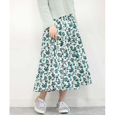 MK MICHEL KLEIN homme / 【洗える】花柄ロングスカート WOMEN スカート > スカート