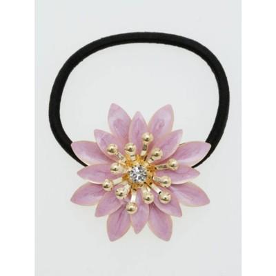 【カヤ】菊の花ヘアゴム ピンク