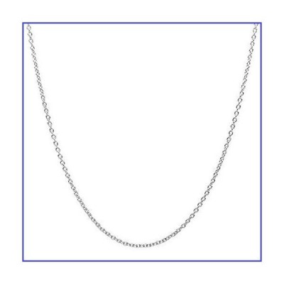 10K Yellow Gold 2.0MM Round Rolo Link Chain Necklace - Made in Italy (White, 14)