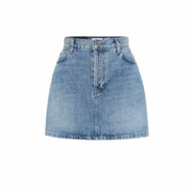 リダン Re/Done レディース ミニスカート スカート 60s high-rise denim miniskirt Medium Stone