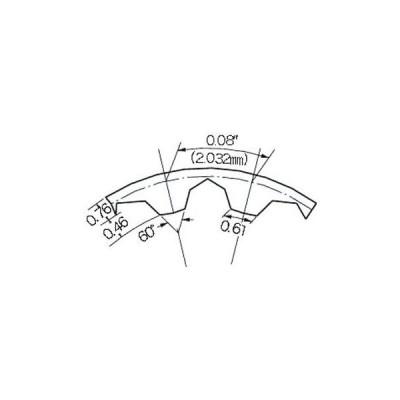 タイミングベルト T80形(ポリウレタン) 三ツ星ベルト 45T80-3.2