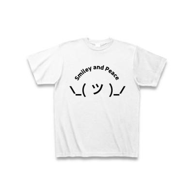 スマイリー(ツ) Black Tシャツ(ホワイト)