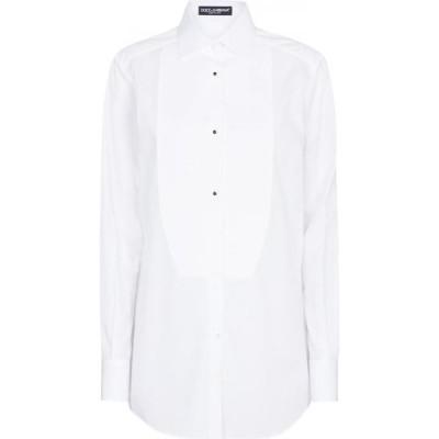 ドルチェ&ガッバーナ Dolce & Gabbana レディース ブラウス・シャツ トップス cotton shirt Bianco Ottico