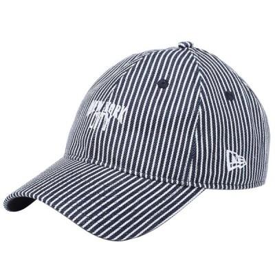 ニューエラ 920キャップ クローズストラップ ニューヨークシティ ネイビーヒッコリー スノーホワイト New Era 9TWENTY Cap Cloth Strap New York City Navy