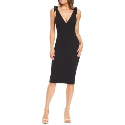 ドレスザポプレーション ワンピース トップス レディース Lita Tie Cocktail Dress Black