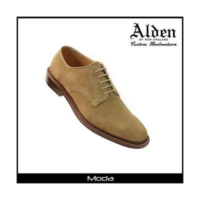 オールデン ビジネスシューズ メンズ ALDEN 靴 ドレスシューズ タン スウェード