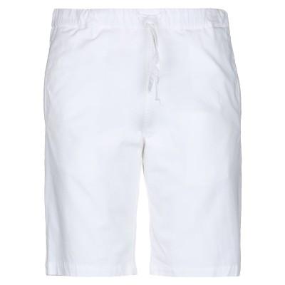パオロ ペコラ PAOLO PECORA バミューダパンツ ホワイト 46 コットン 97% / ポリウレタン 3% バミューダパンツ