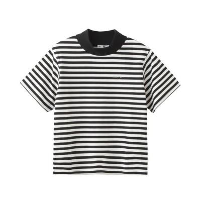 tシャツ Tシャツ STRIPED BOTTLENECK TOP