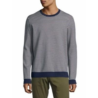 サックスフィフスアベニュー メンズ トップス セーター ニット Striped Crewneck Sweater